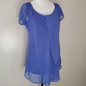 10/$35 REITMAN'S purple layered blouse